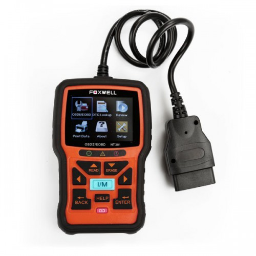[USUK Ship] Foxwell NT301 CAN OBDIIEOBD Code Reader Support Multi-Languages
