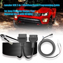 Lonsdor JCD 2-in-1 Multifunctional Programming Cable for JeepChryslerDodgeFiatMaserati Work with K518ISE